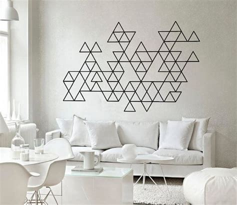 geometric wall decor triangles geometric triangles wall art decals by