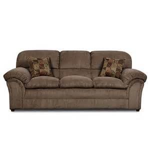 simmons 174 chion mocha sofa with pillows big lots