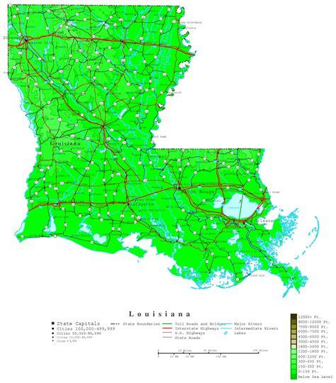louisiana contour map