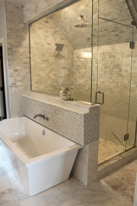 bathroom slope gray shower tiles contemporary bathroom erin glennon