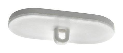 oval self adhesive ceiling hanger 20mm x 40mm pack of 10