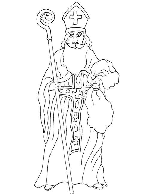 st nicholas coloring page christmas ho ho ho