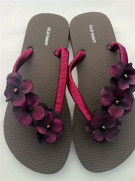 Flower Flip Flops flip flops with ribbon and flowers diy crafts