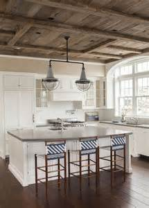 barn board ceiling cottage kitchen sb interiors