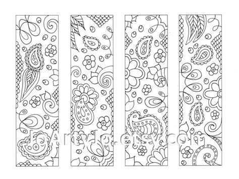 printable bookmarks to colour printable bookmarks to color like this item bookmarks