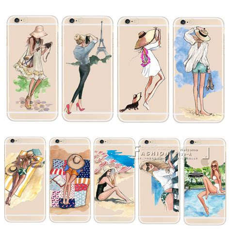 Monochrome Softcase For Iphone 4 5 Se 6 6s 6 soft tpu for iphone 6 6s 7 8 plus x 5 5s se travel