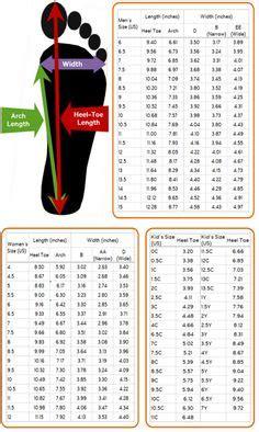 shoe size charts images shoe size chart charts