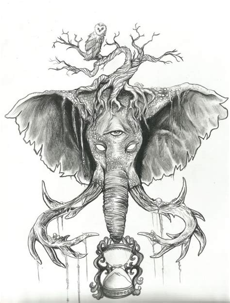 tattoo elephant sketch holders of time pencil drawing for elephant tattoo