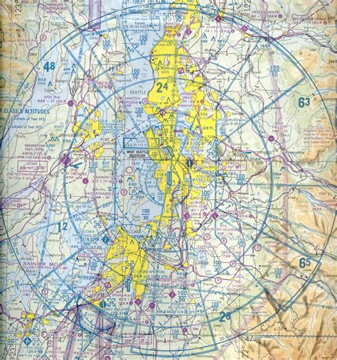 seattle sectional chart maps seattle artcc