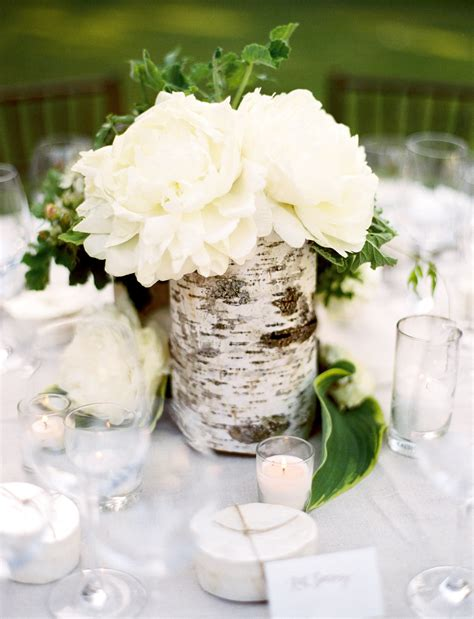 25 Rustic Wedding Centerpieces To Inspire Your Big Day Birch Tree Wedding Centerpieces