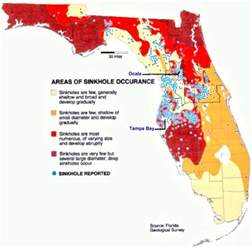 sinkhole map in florida what causes sinkholes earth earthsky