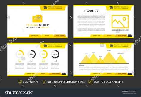 layout in advertising ppt corporate presentation vector template modern business