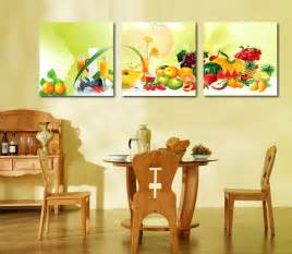 3 canvas home decoration wall painting fruit