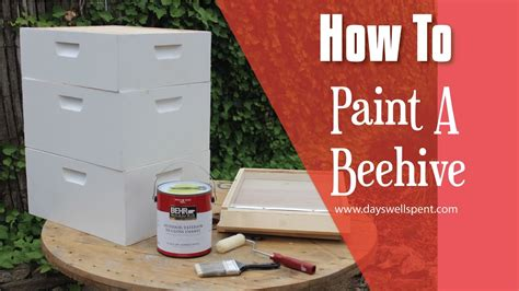 how to put a box together how to paint a beehive what sections to paint and how
