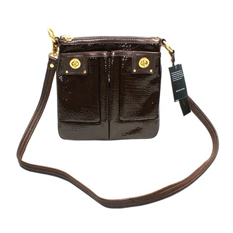 leather swing marc by marc jacobs turnlock espresso patent leather swing