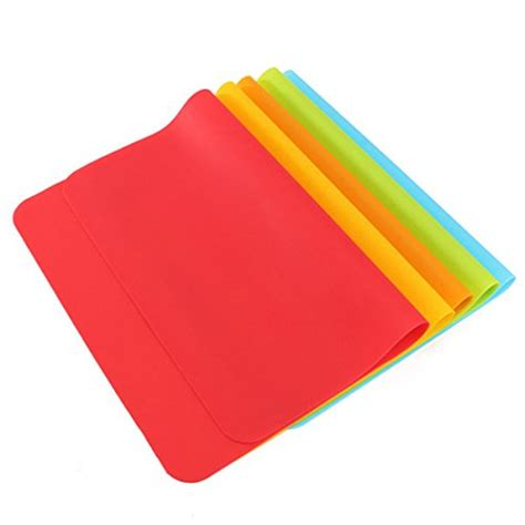 Silicone Non Slip Mat by Rectangle 30 40cm Silicone Place Mats Heat Resistant Non