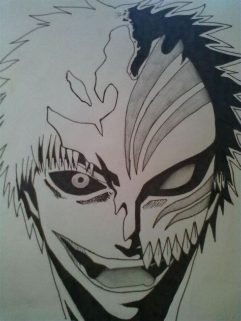 bleach tattoos easy drawings ichigo hollow mask by