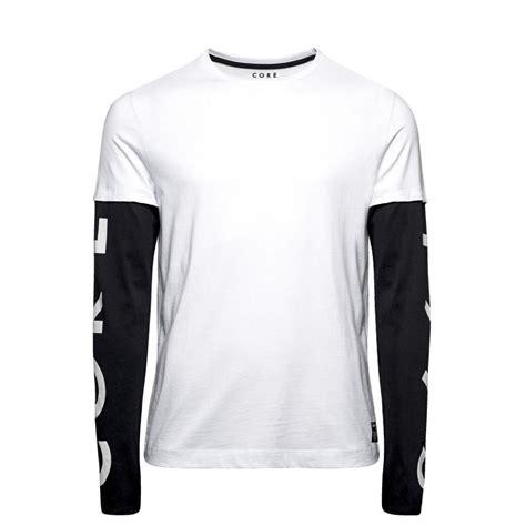 design a long sleeve shirt jack jones designer long sleeve t shirt white