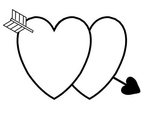 double heart coloring page index of coloring valentines day