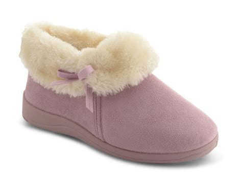 bootie slippers womens dunlop fur warm slip on bootie slippers flat low