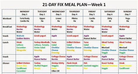 printable meal plan for 21 day fix search results for 21 day printable meal plan calendar