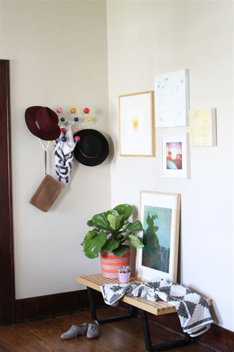 11 tips for styling your entryway table before and after how to style an entryway curbly