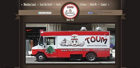 food truck website design toum nyc fnf media