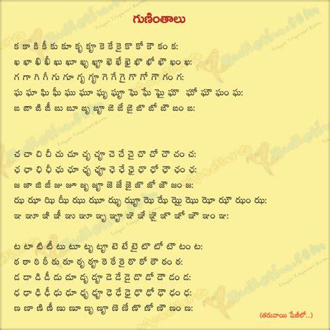 Letter In Telugu Telugu Guninthalu Guninthalu Telugu Letters Telugu