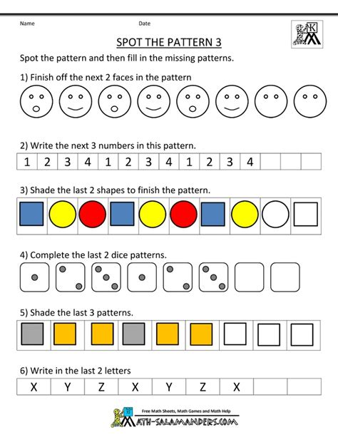 pattern finder math online search results for three step patterns worksheets