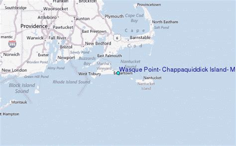 Chappaquiddick Location Wasque Point Chappaquiddick Island Massachusetts Tide Station Location Guide