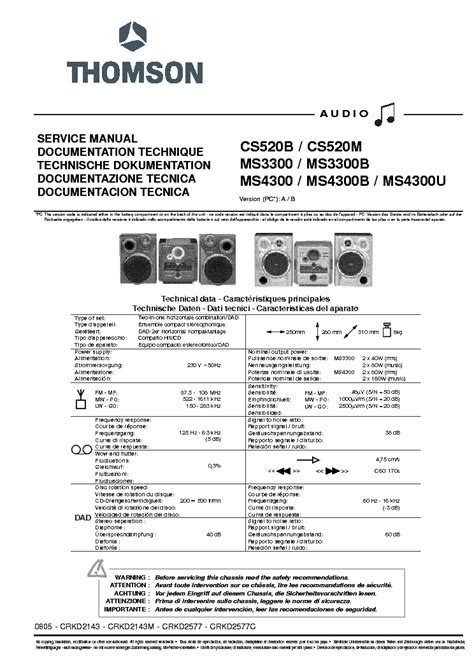 thomson one help desk thomson cs520b m ms3300 b ms4300 b u service manual