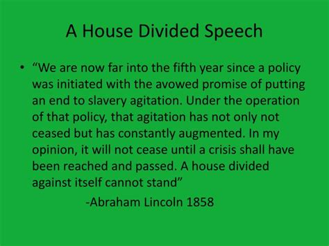 house divided speech ppt lincoln douglas debates powerpoint presentation id 1888633