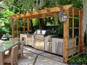 Outdoor Kitchen Idea Simple Outdoor Kitchen Ideas 7087 Baytownkitchen