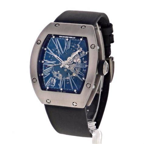 Richard Mille Date On richard mille titanium date automatic wristwatch ref rm023
