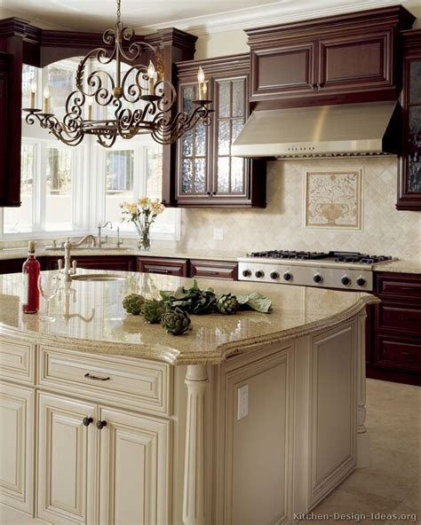 pictures of antiqued kitchen cabinets pictures of kitchens traditional two tone kitchen