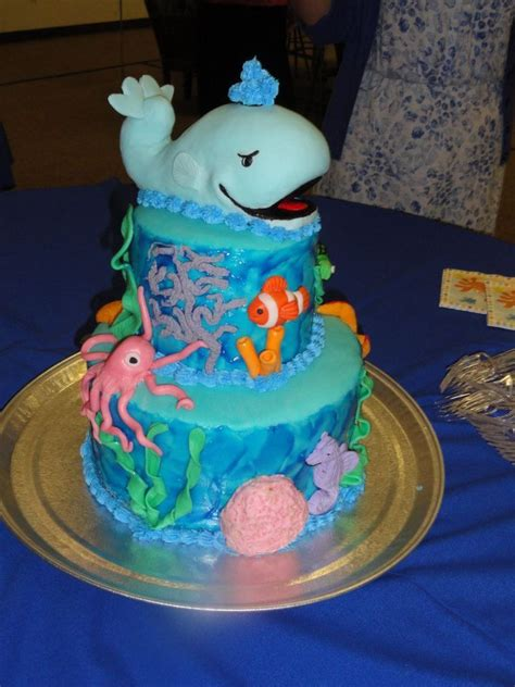 Seahorse Baby Shower Decorations by The Sea Baby Shower Cake Edible Animals Including