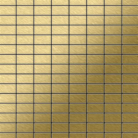 mosaik fliese massiv metall titan geb 252 rstet in gold 1 6mm