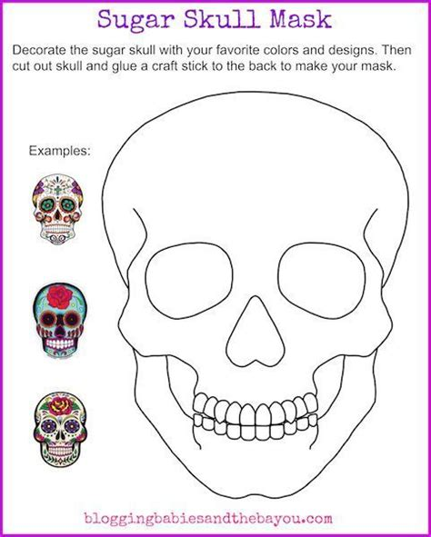 Masque Of The Worksheet by Sugar Skull Mask Printable Dia De Los Muertos Day Of The