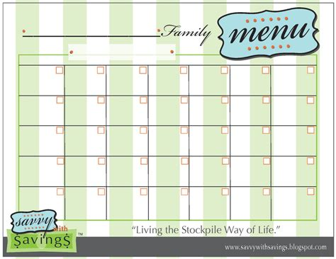calendar menu template printable weekly menu template new calendar template site