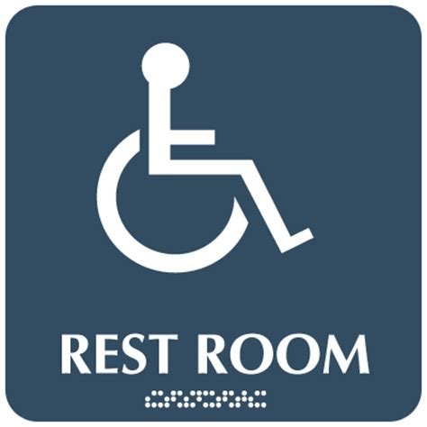 handicap bathroom sign optima ada handicapped access restroom signs from seton