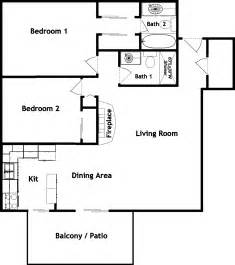 Floor Plan Of A 2 Bedroom House by 2 Bedroom 2 Bath Apartment Floor Plans Beautiful Pictures