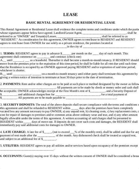 basic rental agreement letter template 36 agreement letter exles sle templates