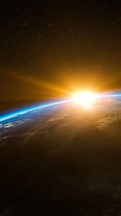 wallpaper earth sunset  space