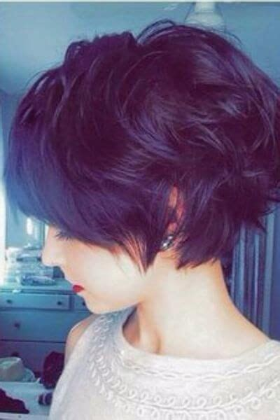 angled curly cuts longer angled long pixie cut for wavy hair https www facebook