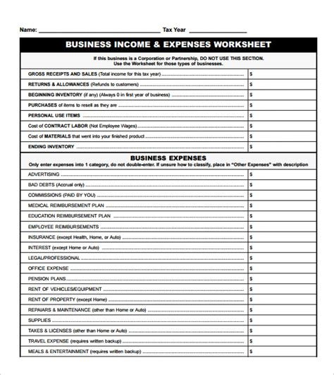 income and expenses worksheet lesupercoin printables