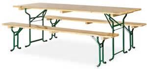 table avec banc en bois 220x70 cm pi 232 tement tubulaire