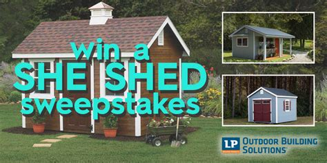 Better Homes And Gardens Sweepstakes Winners - win a custom quot she shed quot for yourself on better homes and gardens diy she shed