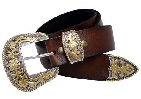 cowboy western buckle grain leather belt 1 1 2 quot wide