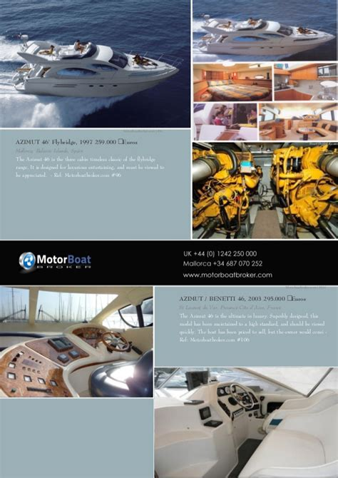 motorboat and yachting boats for sale motorboat boat broker pdf full catalog generated by our