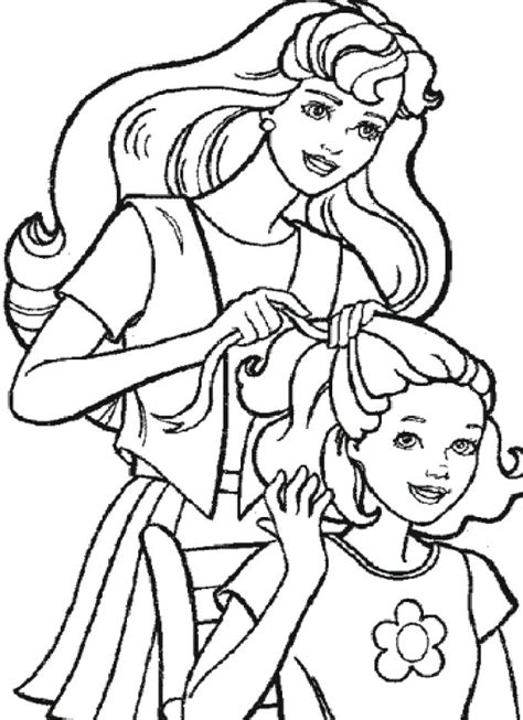 coloring pages of barbie and her friends hairdo barbie friends coloring pages kids coloring pages